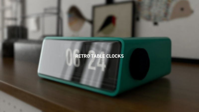 RETRO TABLE CLOCKS