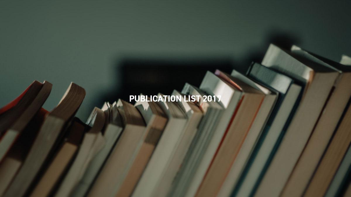 PUBLICATION LIST 2017